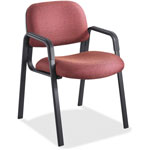 Safco Cava Urth Collection Straight Leg Guest Chair, Burgundy