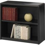 Safco Value Mate Series Steel Two Shelf Bookcase, 31 3/4w x 13 1/2d x 28h, Black