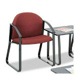 Safco Forge Collection Single Chair with Arms, Burgundy Upholstery