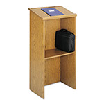 Safco Stand Up Lectern, 23w x 15 3/4d x 45 7/8h, Medium Oak