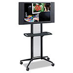 Safco Impromptu Flat Panel TV Cart, 38w x 20d x 65-1/2h, Metallic Gray