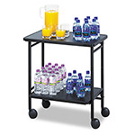 Safco Fold Away Mobile Beverage Cart, Two Shelf, Black