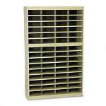 "Safco Steel Literature Center, Legal, 60 Compartments, 60""h, Tropic Sand"