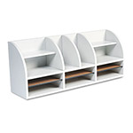 Safco 12 Compartment Radius Front Desktop Organizer, Gray