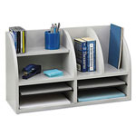 Safco Radius Front 8 Compartment Desktop Organizer, Gray