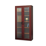 Safco Après Tall Two-Door Cabinet, 30w x 12d x 60h, Mahogany