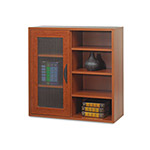 Safco Après Single Door Cabinet w/Shelves, 30w x 12d x 30h, Cherry