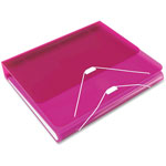 "Samsill DUO 2-in-1 Binder Organizer, 11 x 8 1/2, 1"" Capacity, Hot Pink"