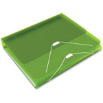 "Samsill DUO 2-in-1 Binder Organizer, 11 x 8 1/2, 1"" Capacity, Green"