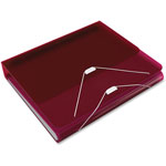 "Samsill DUO 2-in-1 Binder Organizer, 11 x 8 1/2, 1"" Capacity, Burgundy"
