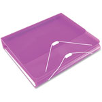 "Samsill DUO 2-in-1 Binder Organizer, 11 x 8 1/2, 1"" Capacity, Orchid"