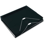 "Samsill DUO 2-in-1 Binder Organizer, 11 x 8 1/2, 1"" Capacity, Black"