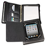 Samsill iPad Zipper Binder With Magnetic Flap, Black