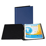 "Samsill 44% Recycled Heavy Duty Locking Round Ring Binder, 1"" Capacity, Blue"