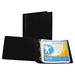 "Samsill 44% Recycled Heavy Duty Locking Round Ring Binder, 2"" Capacity, Black"