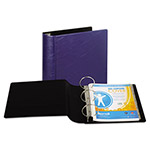 "Samsill 44% Recycled Heavy Duty Locking Round Ring Binder, 4"" Capacity, Blue"