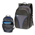 "Samsill 16"" Laptop Backpack, Heavyweight, 12-1/2""x10""x19"", Blue"