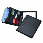 Samsill Executive Pad Holder with Flip Pad™, Letter Size, Black