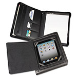 Samsill iPad Zipper Padholder With Magnetic Flap, Black