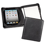Samsill iPad Zipper Composition Pad Holder, Black