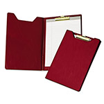 Samsill Economy Vinyl Pad Holder, with Brass Clip, 8 1/2x11 Pad, Burgundy