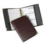 "Samsill Business Card Binder, A Z Index, 120 Card Cap, 6"" x 7 1/3"" BY"