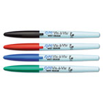 Vis â Vis® Vis-à-Vis Wet-Erase Marker, Fine Point, Asstd., 4/Set