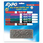 Expo® Low Odor Dry Erase 10 Marker Set, Fine Point, Assorted Colors