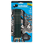 Prismacolor Scholar Erasable Colored Pencil Set, Assorted Leads, 2 mm, 9/Set