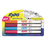 Expo® Low-Odor Dry-Erase Marker, Ultra Fine Point, Assorted, 4/Set