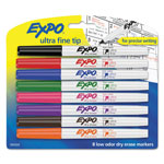 Expo® Low-Odor Dry-Erase Marker, Ultra Fine Point, Assorted, 8/Set