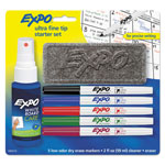 Expo® Low-Odor Dry-Erase Marker Starter Set, Ultra Fine, Assorted, 5/set