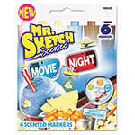 Mr. Sketch® Scented Watercolor Marker, Chisel Tip, 6 Movie Night Colors, 6/Set