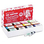 Mr. Sketch® 12 Color School Pack Washable Watercolor Markers, Cone Tip