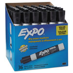 Expo® Low Odor Dry Erase Marker, Chisel Tip, Black, 36/Box