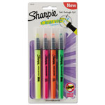 Sharpie® Clearview Highlighter, Fine Chisel Tip, Assorted Ink, 4/Pack