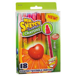 Mr. Sketch® Scented Crayons, Gel, Assorted, 18/Pack