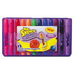 Mr. Sketch® Scented Crayons, Gel, Assorted, 12/Pack