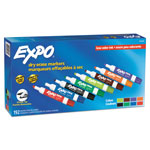 Expo® Low Odor Dry Erase Markers, Chisel Tip - Office Pack, Assorted, 192/pk
