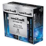 Uni-Ball Roller Pens, Micro Point, 0.5 mm, Micro, Black Ink, 72/PK