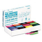 Mr. Sketch® Scented Watercolor Markers, 12 Color School Pack, Chisel Tip