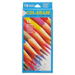Sanford Colored Pencils with Erasers, 12 Color Set