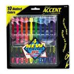 Sanford Accent Liquid Pen Style Highlighter, Chisel Tip, Assorted, 10/Set