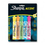 Sharpie® Highlighter with Chisel Tip, Flourescent Green, Orange, Pink, Yellow and Blue