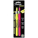 Sharpie® Flourescent Pink/Yellow Highlighter, Retractable with Chisel Point