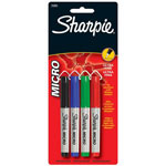 Sanford Micro Permanent Marker 4-Color Set, Black, Red, Blue and Green