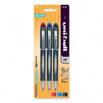 Uni-Ball Ballpoint Pen, Gel, .7mm, Blue Barrel, Black/Blue/Red Ink