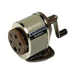 Sanford Giant Table Or Wall-Mount Manual Pencil Sharpener, Gray/Tan