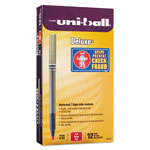 Uni-Ball Deluxe Rollerball Pen, 0.5 mm, Red Ink, 12/BX