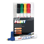 Uni-Ball Paint Opaque Oil Based Paint Marker, Medium Point, 6 Color Set